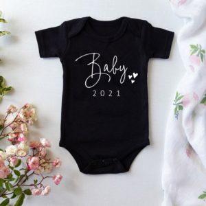 Dětské body s krátkým rukávem a nápisem - Baby 2021