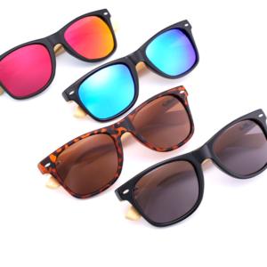 Luxusní bambusové sluneční brýle - unisex