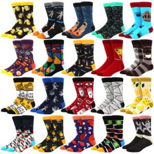 Pánské vtipné barevné ponožky na zimu