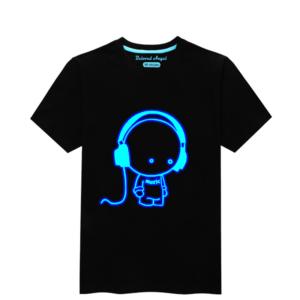 Dětské tričko se svítícím 3D potiskem
