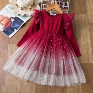 Dětské dívčí společenské šaty