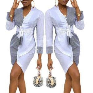 Dámské krátké elegantní košilové šaty