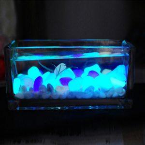 Svítící fosforové dekorativní kamínky do akvária / květináče