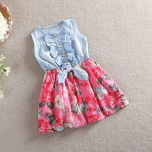 Dívč letní košilové šaty