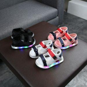 Dětské svítící sportovní letní sandálky Brecken