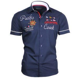 Pánská nadčasová námořní košile s krátkým rukávem