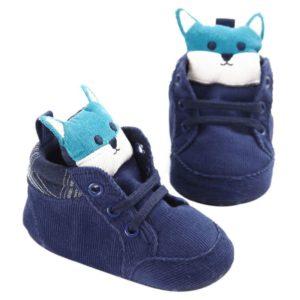 Dětské nazouvací botičky s liškou
