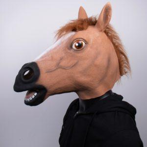 Strašidelná halloweenská koňská maska