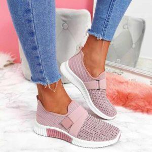 Dámské módní růžové tenisky s kamínky | HIT 2021