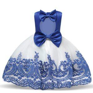 Dětské dívčí šaty s mašlí a tylovou sukní