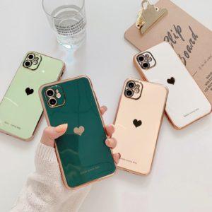 Luxusní vysoce kvalitní nárazuvzdorný ochranný kryt na Iphone se srdíčkem
