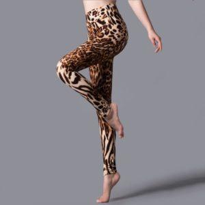 Dámské elastické legíny s leopardím vzorem Nina