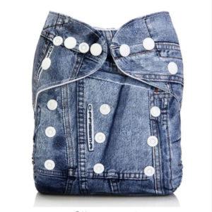 Dětské plenkové kalhotky ve stylu džínů