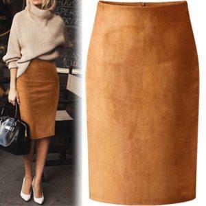 Dámská elastická upnutá sukně po kolena