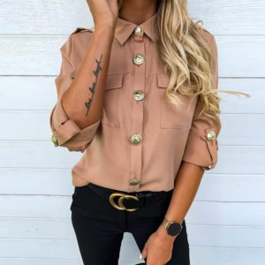 Stylová dámská košile s knoflíky Bibiana
