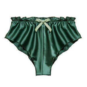 Dámské sametové kalhotky s mašličkou