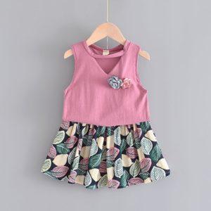 Dívčí letní set s tílkem a sukní