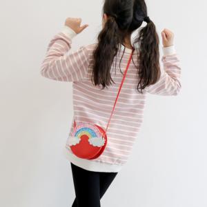 Krásná dívčí duhová crossbody mini kabelka přes rameno