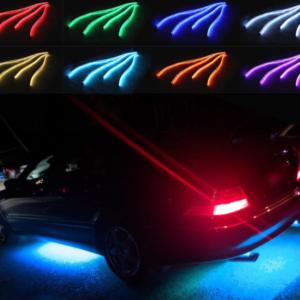 Flexibilní LED pásek pro podsvícení auta - 4 ks