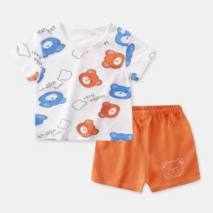 Dětská sada kraťásků a trička s krátkým rukávem
