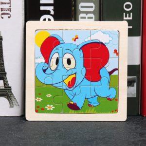 Dětské dřevěné roztomilé puzzle se zvířátky