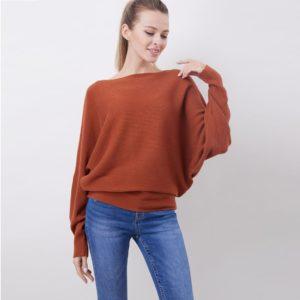 Dámský volný svetr s dlouhým rukávem   jaro - podzim