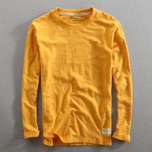 Bavlněné pánské tričko s dlouhým rukávem Out