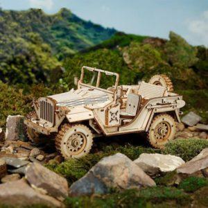 Dřevěné 3D vzdělávací puzzle - Jeep