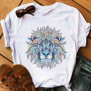 Dámské letní triko s potiskem Lion