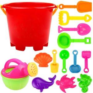 Sada plážových barevných hraček na pláž - 14 kusů