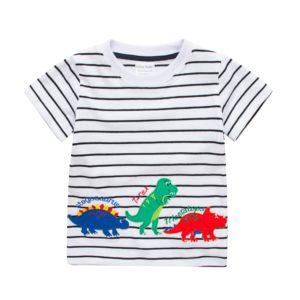 Zábavné dětské tričko s dinosaurem