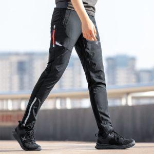 Lehké pohodlné pánské cyklistické prodyšné kalhoty s reflexními prvky