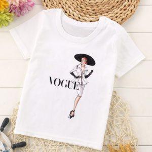 Dívčí stylové tričko s potiskem