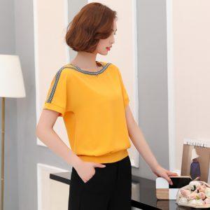 Dámské elegantní triko s krátkým rukávem Via