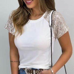Dámské módní triko s flitry Adria